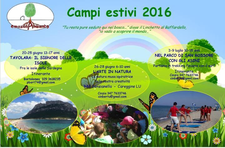 Campi Estivi 2016 Fronte